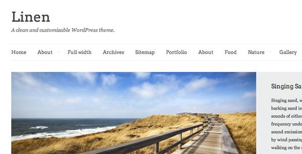 Linen WordPress Theme